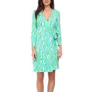 Lilly Pulitzer Belted Wrap Dress V-Neck Size M